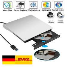 ??Extern Slim Laufwerk CD-RW DVD Brenner USB 3.0 mit Typ-C für pcLaptop Notebook