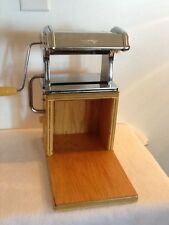 MARCATO Atlas Model 150 MM Deluxe Chrome Pasta Maker Made In Italy On Wood Board