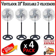 """VENTILADOR DE PIE 18"""" 80W 3 VELOCIDADES OSCILACION ALTURA AJUSTABLE METAL X 4"""