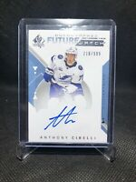 2018-19 SP Authentic Future Watch Auto Anthony Cirelli /999 RC Rookie Tampa 🔥