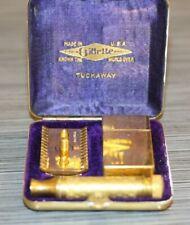 Vintage Gillette TUCKAWAY Safety Razor In Case
