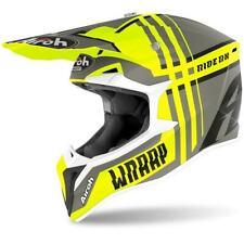 "AIROH WRAAP MX Motocross Helmet ""Broken"" Yellow Matt Size Medium HAWRA154"