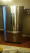 Maytag 24.8 Cu Ft French Door, Stainless Steel Refrigerator, Freezer on Bottom