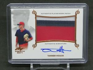 2017 LEAF TRINITY TANNER HOUCK ROOKIE RC JERSEY AUTO BOSTON RED SOX JS2