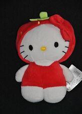 Peluche Doudou Chat Hello Kitty Sanrio H&M H et M  HM Fraise Blanc 17 Cm Neuf