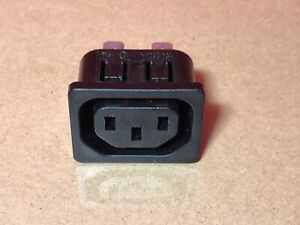 AC 250V 10A 3P Plug Panel Mount Power Inlet Sockets Receptacle Female 15A 250V