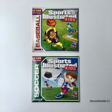 2 Sports Illustrated Kids Baseball Game 1 / Soccer Game 2 Wendy's CD ROM Windows