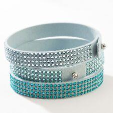 Touchstone Crystal TRI-WRAP Bracelet in Aqua