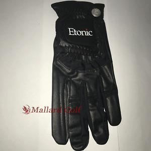 1 Left Cadet Men's Etonic Stabalizer Fit Sport Golf Glove [S, L, XL, 2XL] Black