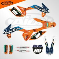 KTM Graphics Kit for a 2015 SX SXF XC XCF Decals kit with custom rider ID
