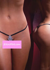 SEXY EXOTIC DANCER STRIPPER CROTCHLESS MICRO THONG BIKINI BOTTOM W/ JEWELS! NEW!