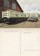 GERMANY FREIGHT WAGONS ON RAILS UNUSED COLOUR POSTCARD
