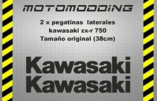 2 x pegatinas laterales kawasaki zx-r ZXR 750 stickers decals autocollant calcas
