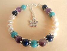 Gemstone Crystal Healing Anxiety Depression OCD Support Bracelet Gift Bag