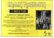 "7/11/87pg5 Album Advert 7x10"" Iron Maiden, 12 Wasted Years"