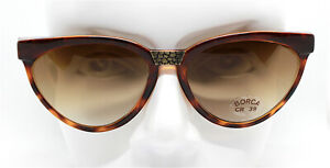 Made IN Italy Sunglasses Woman Oval cat's eye Brown Vintage 80