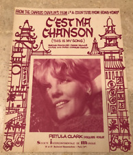 "PARTITION ""PETULA CLARK - C'EST MA CHANSON (THIS IS SONG)"""