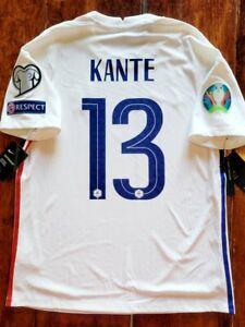 2020/21 Nike France #13 KANTE Euro2020 Vaporknit Away Soccer Jersey Size Large C
