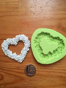 Rose Heart silicone mould - cake decorating - valentines, love