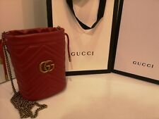 Gucci GG Marmont Mini Bucket Bag with original store box and shopping bag
