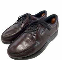 SAS Bout Time Cordovan Leather Diabetic Orthotic Walking Shoes Men's Sz Us 9.5 M