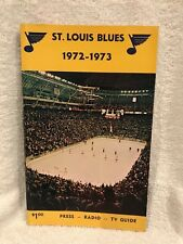 VINTAGE St. Louis Blues 1972-73 Press Media Guide, VERY NICE!