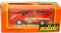SOLIDO VINTAGE NO. 27 1/43 LANCIA STRATOS - RED -  MINT BOXED