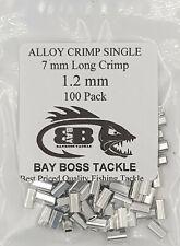 ALUMINIUM ALLOY CRIMPS 1.2 mm x 7 mm long x 100 SUIT WIRE & MONO TRACE