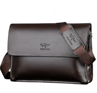 New Men's Leather Shoulder Messenger Bag Crossbody Travel Briefcase Bag