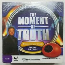 THE MOMENT OF TRUTH - Funny Lie Detector / Biometric NEW / Board Game FUN
