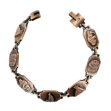 """13mm wide Magnetic Link Copper Clad Therapy long Bracelet with 8.5"""""""