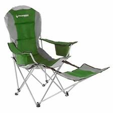 Wakeman Outdoors Recliner Quad Chair With Footrest Green