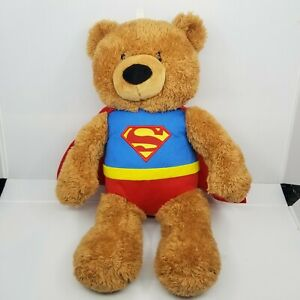 "Gund DC Comics Superman Teddy Bear Plush Stuffed Animal Super Hero 18.5"""