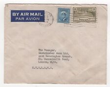 1948 CANADA KGVI Air Mail Cover ROSEDALE TORONTO to LONDON GB Westminster Bank