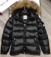 Mens winter real duck down big fur collar Jacket down coat jacket Outwear