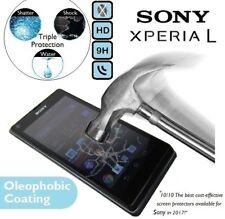 Película protectora de pantalla de vidrio templado genuino C2014/C2105 2013 para Sony Xperia L