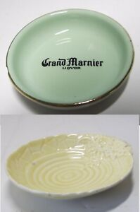 JOBLOT 2x PIN DISH Crown Devon & Grand Marinier Liquer by ORCHIES Vintage