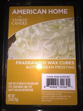 Yankee Candle American Home Scented Wax Cubes BUTTERCREAM FROSTING 2.6 Oz