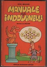 manuali disney 33 vezio melegari MANUALE DEGLI INDOVINELLI illustrato da Origone