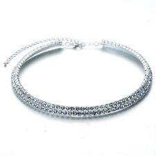 Hochzeit Schmuck Diamant Glanz Kristall Elemente zwei Zeilen Halsband Halskette N228