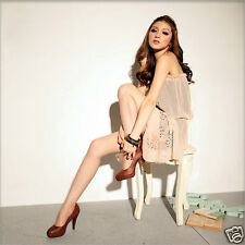 Semi Sheer Two Layers Clubbing Party Asym Mini Dress in Light Apricot or Green