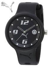 New Puma Ladies SLICK BLACK Silicon Watch + FREE PUMA T-SHIRT