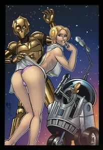 Totally Rad Wars #1 Droids & Leia Star Wars Homage NICE Variant by Alfret Le