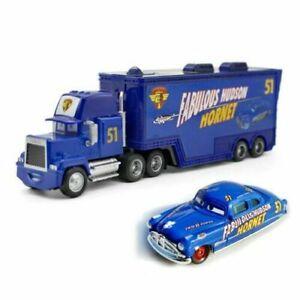 Disney Pixar Cars Fabulous Hudson Hornet Mack Truck & Car 1:55 Diecast Toy Loose