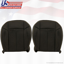 2009 Hummer H3 Driver & Passenger Bottom Replacement Leather Seat Cover Black