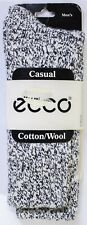 Casual Cotton Wool Blend Men's ECCO Brand Socks Navy and White High Quality