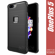 Bundle OnePlus 5 Five Cover Case Noziroh Carbon Frosted Silicone Frosted Armor