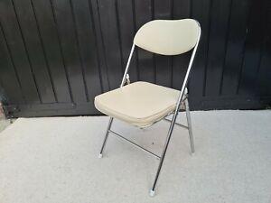 Modern Chrome Folding Chair Used