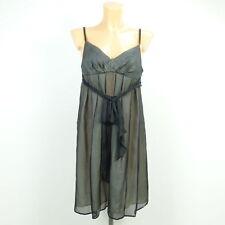 TARA JARMON Kleid Dress Kurzes Kleid Grau-Schwarz Gr. FR 38 DE 36