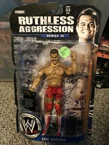 WWE Jakks Ruthless Aggression Series 36 DH Smith Autographed